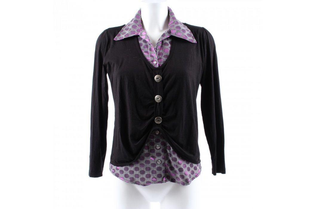 Dámská košile černo fialová  Dámské halenky a košile