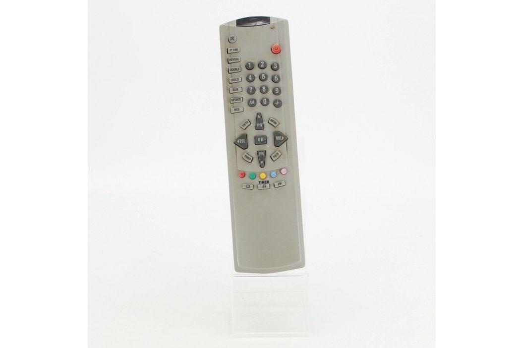 Dálkový ovladač k TV 19 x 5 cm šedý Dálkové ovladače