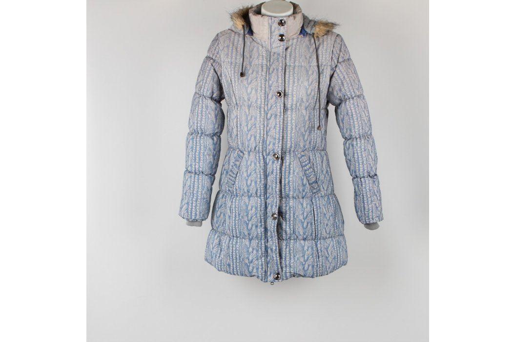 Dámský kabát Bocslia bílomodrý Dámské bundy a kabáty