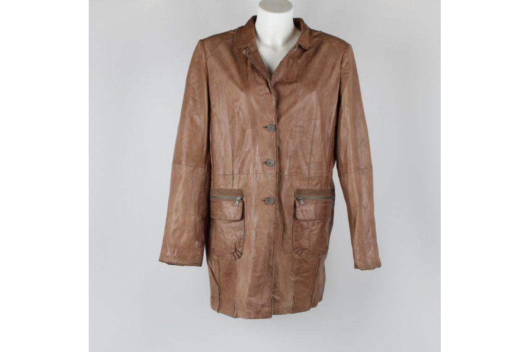Dámský kabát Milestone světle hnědý Dámské bundy a kabáty