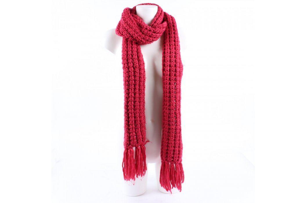 Dámská pletená šála červená Šály a šátky