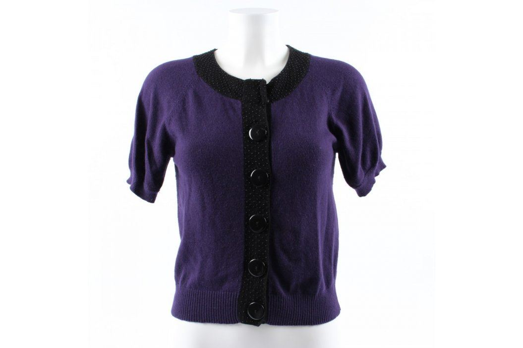 Dívčí krátký svetr černofialový Dětské mikiny a svetry