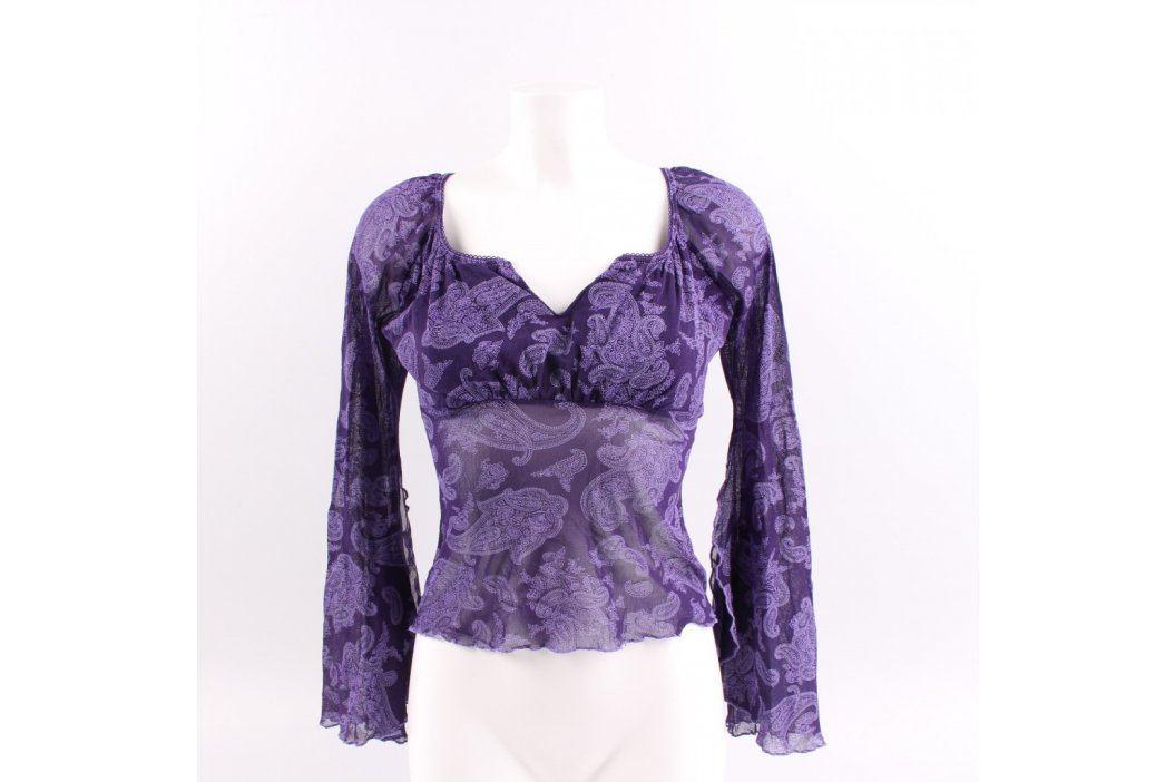 Dámská halenka průsvitná fialová Dámské halenky a košile