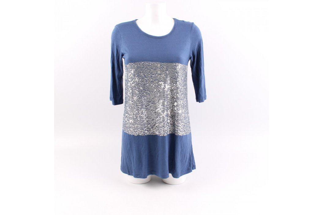 Dámská tunika Saxonne modrostříbrná Dámská trička a topy