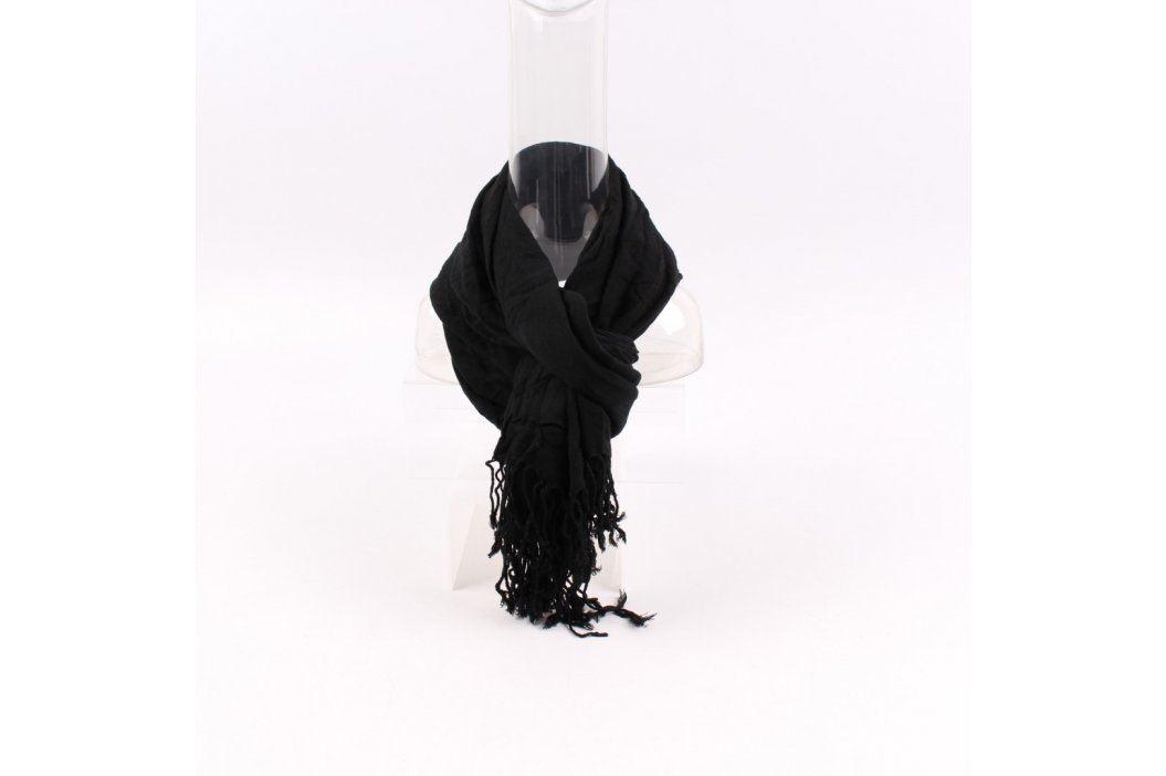 Dámský šátek černý s třásněmi Šály a šátky