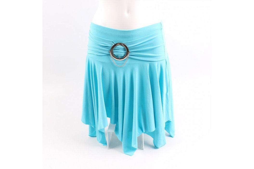 Dámská sukně tyrkysová se sponou Dámské sukně