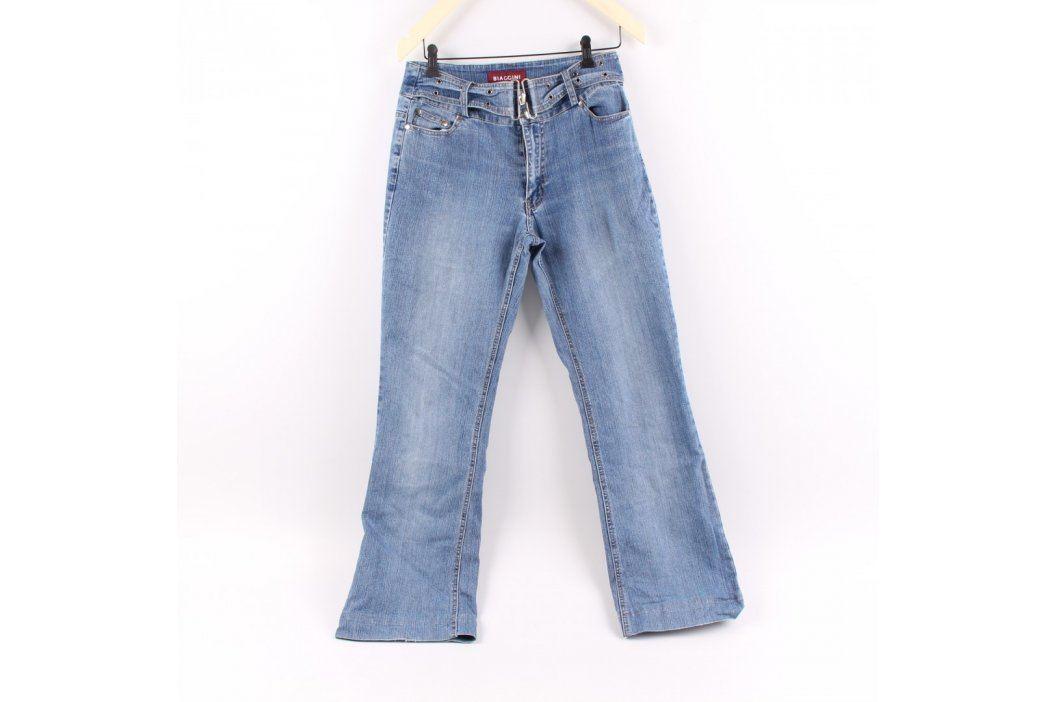 Dámské džíny Biaggini modré s páskem Dámské kalhoty
