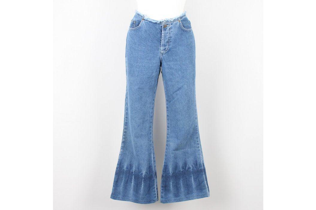 Dámské zvonové džíny modré Dámské kalhoty