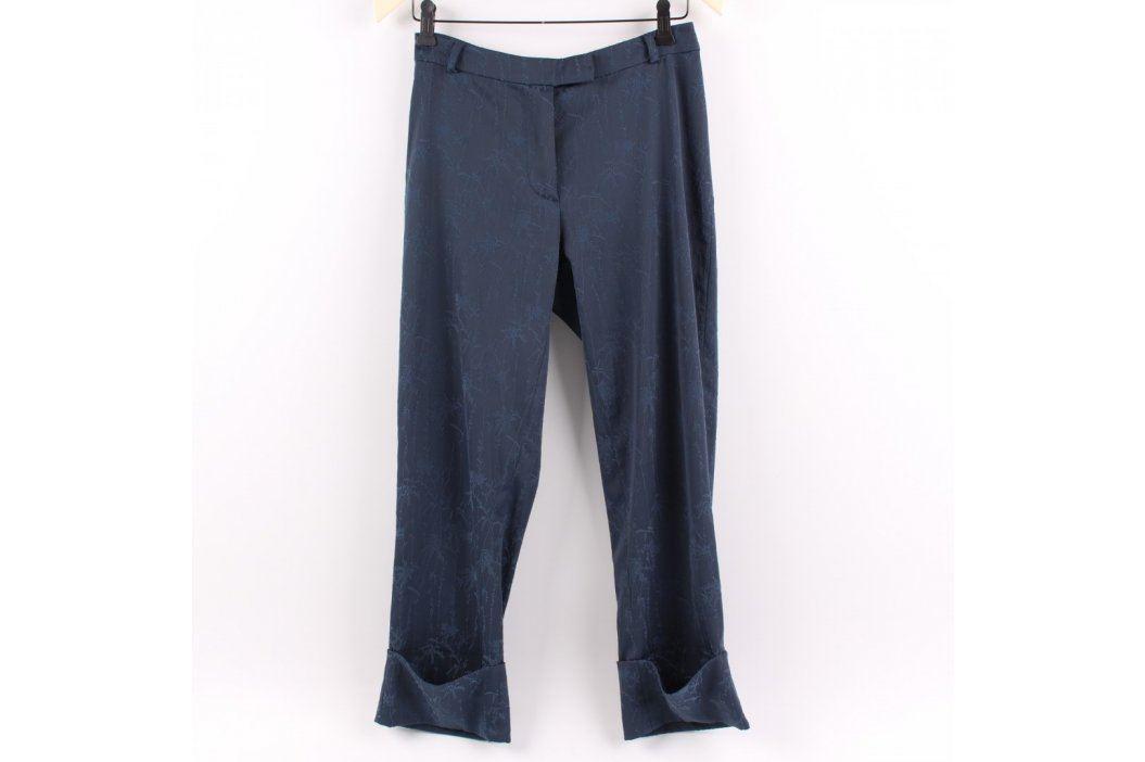 Dámské kalhoty H&M Hennes tmavě modré Dámské kalhoty