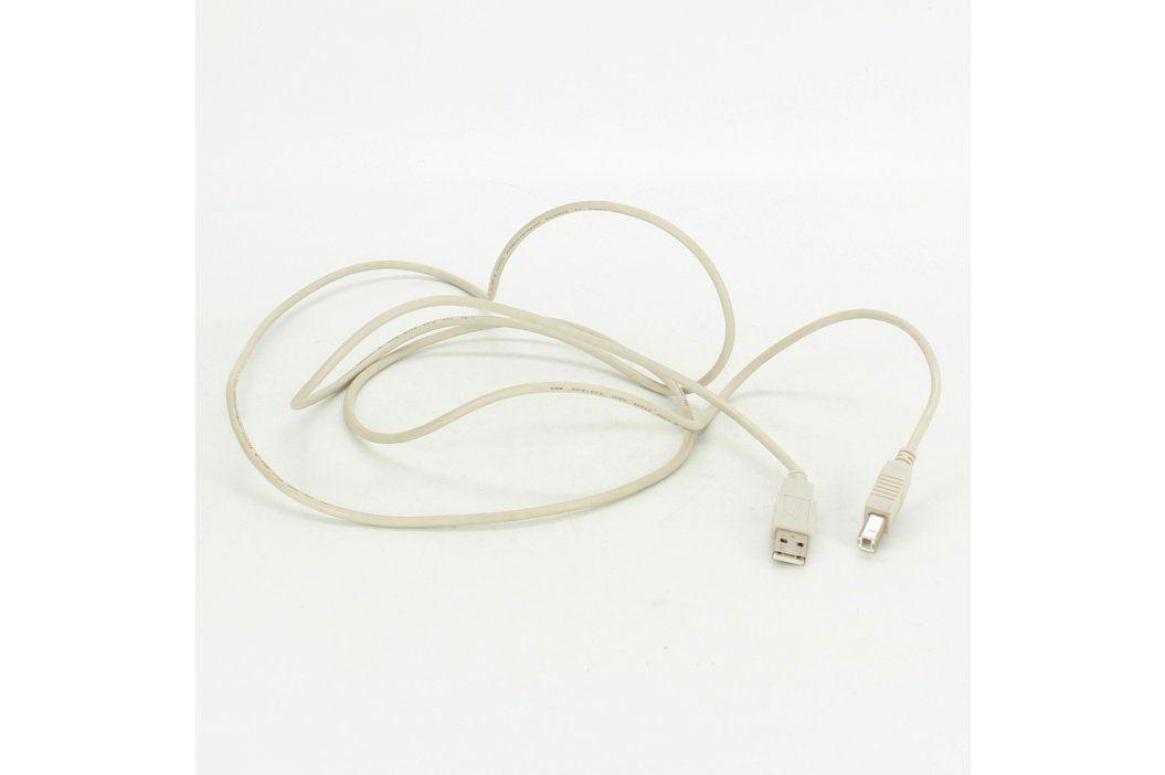 Kabel USB A-B bílý délka 120 cm USB kabely