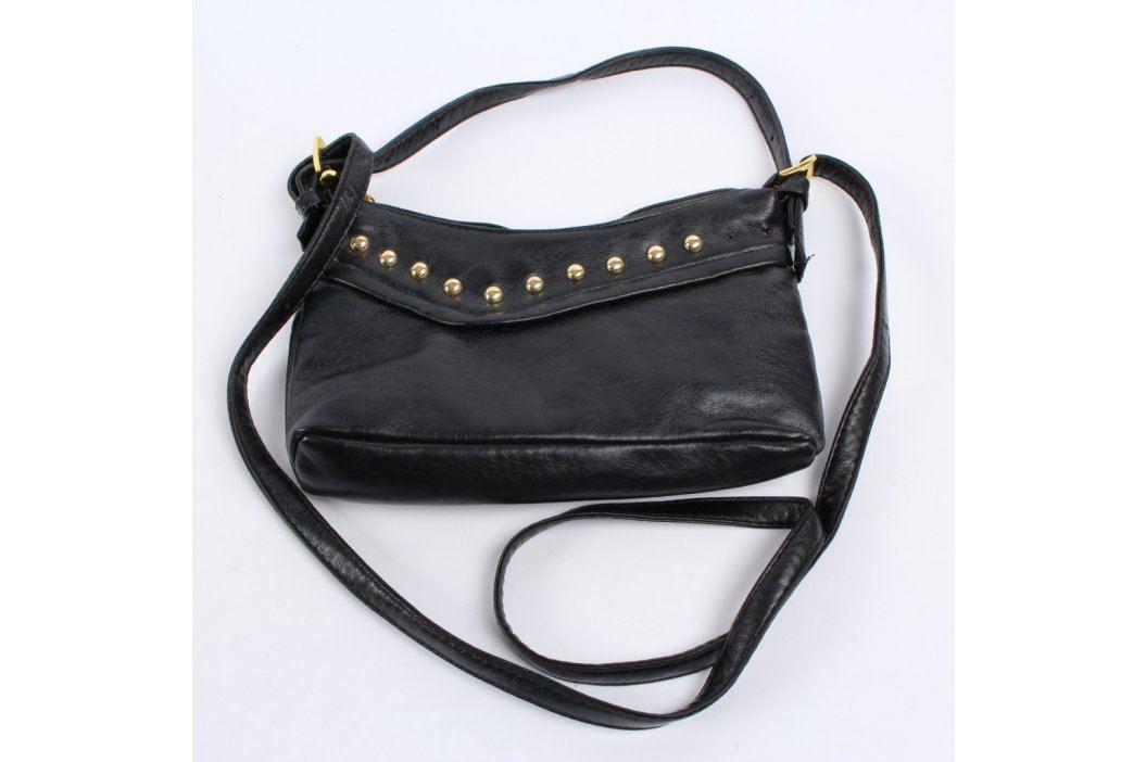 Dámská kabelka černá se zlatými cvočky Kabelky
