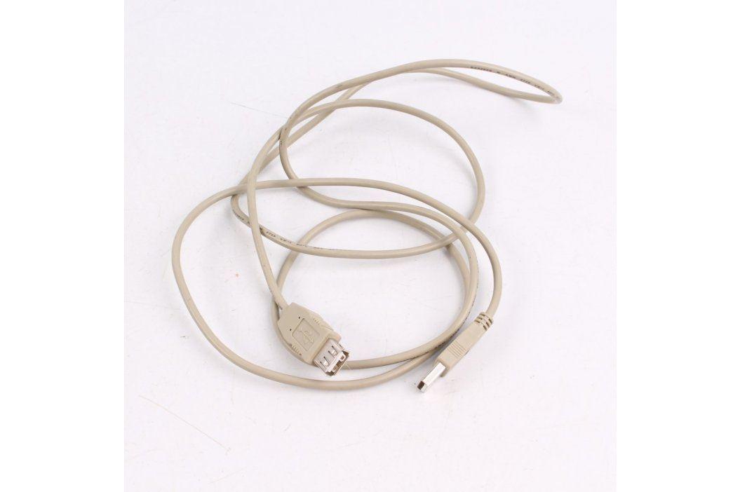 Prodlužovací USB kabel šedý délka 170 cm USB kabely
