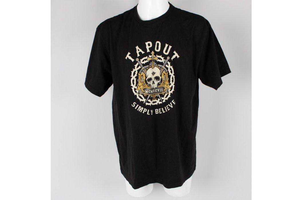 Pánské tričko Tapout černé s lebkou Pánská trička