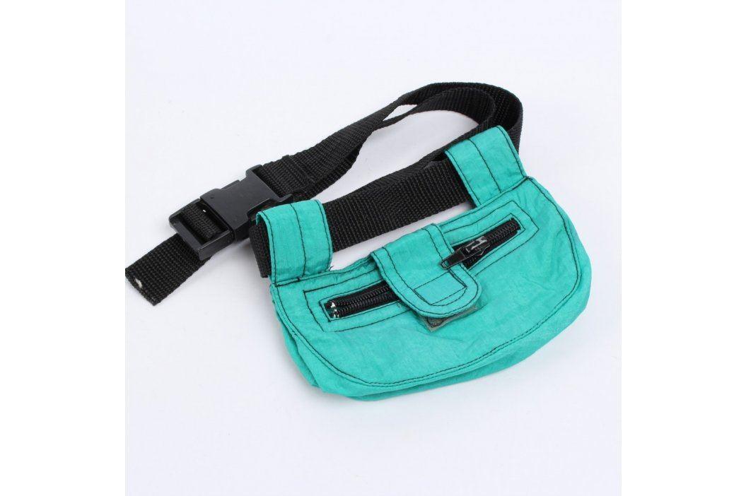 Dětská kapsička kolem pasu zelená Dětské batohy a kapsičky