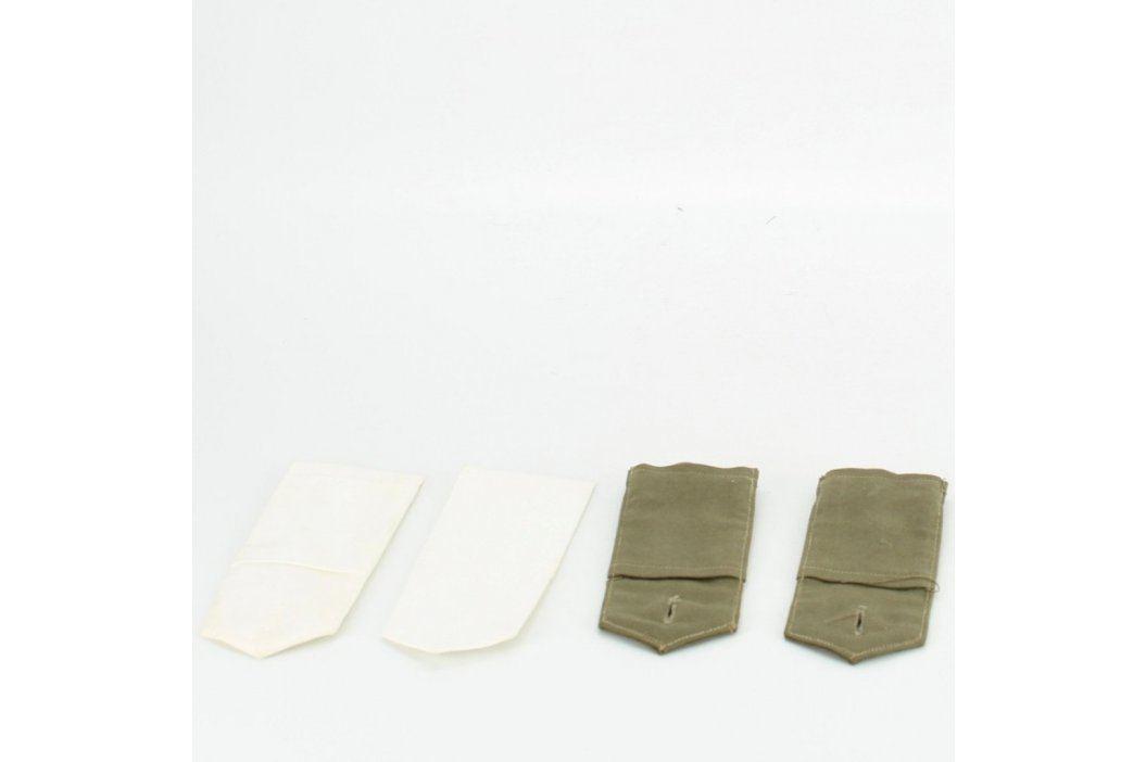 Nárameníky bílé a zelené  Vojenské předměty
