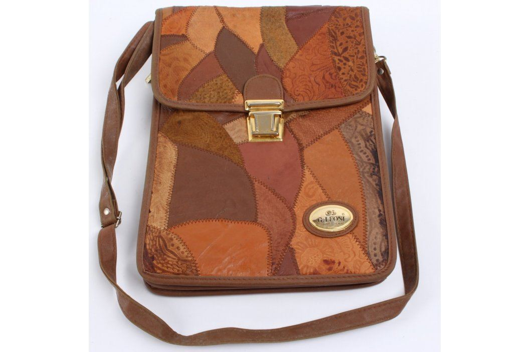 Crossbody taška G. Leoni odstín hnědé Kabelky