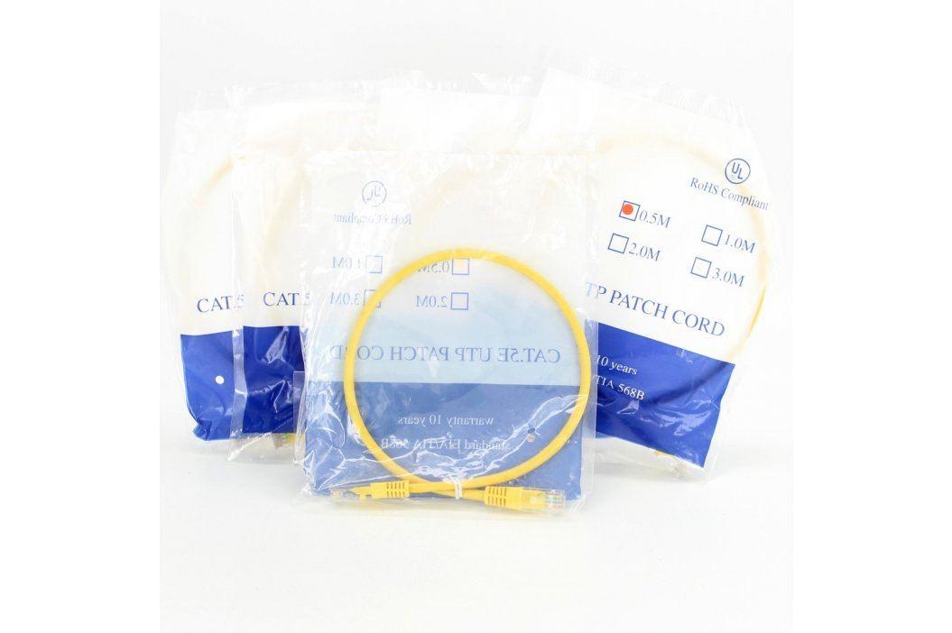 UTP kabel CAT5 žlutý délka 50 cm Síťové kabely