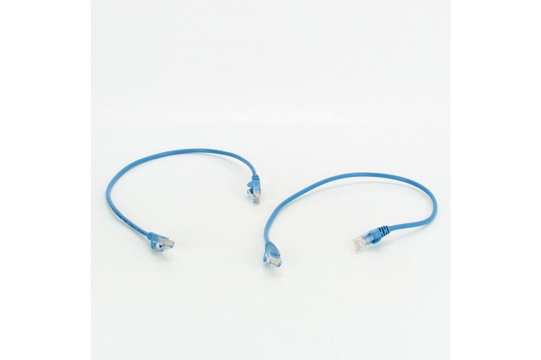 UTP kabely Premim Cord E21 modré délka 50 cm Síťové kabely