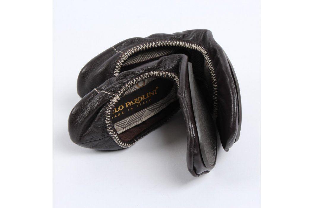 Baleríny Pazolini černé s bílým prošitím Letní obuv