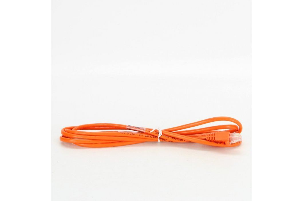 UTP kabel Foxconn RJ45 Cat5e oranžový 180 cm Síťové kabely