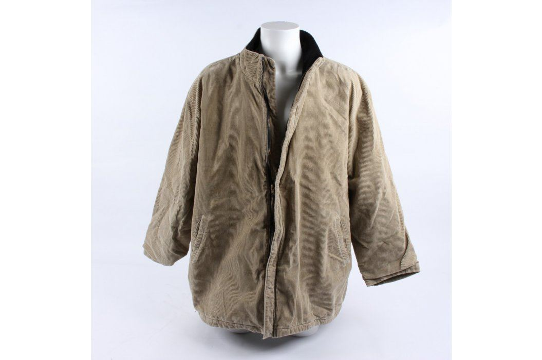 Pánský kabát Woolpecker béžový Pánské bundy a kabáty