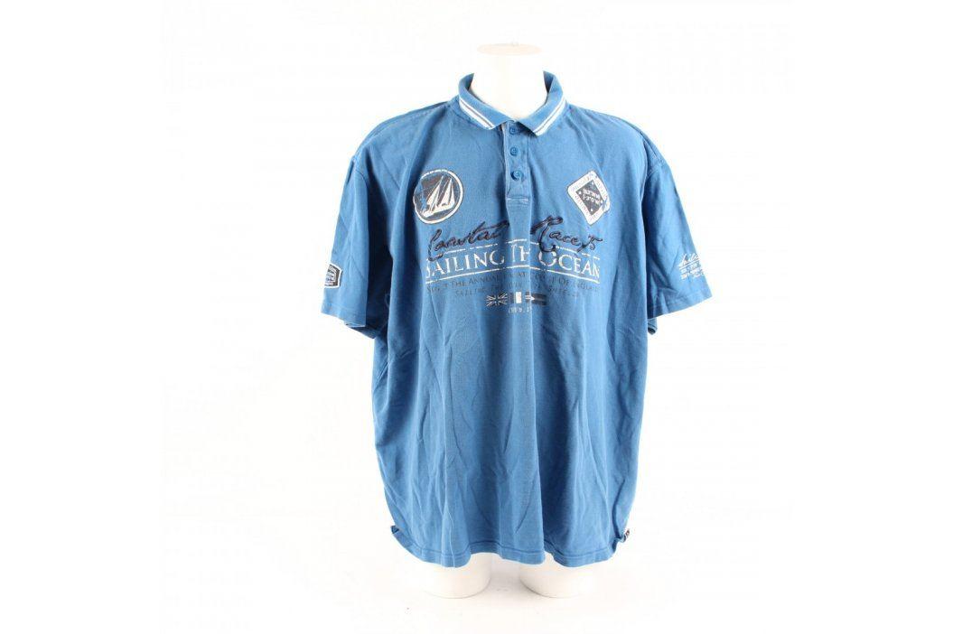 Pánské tričko s límečkem Identic modré Pánská trička