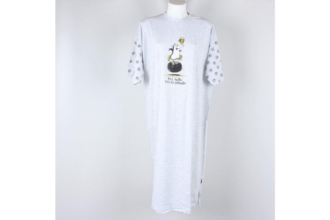 Dámské dlouhé pyžamové triko Calvi šedé Dámská pyžama, košilky a župany