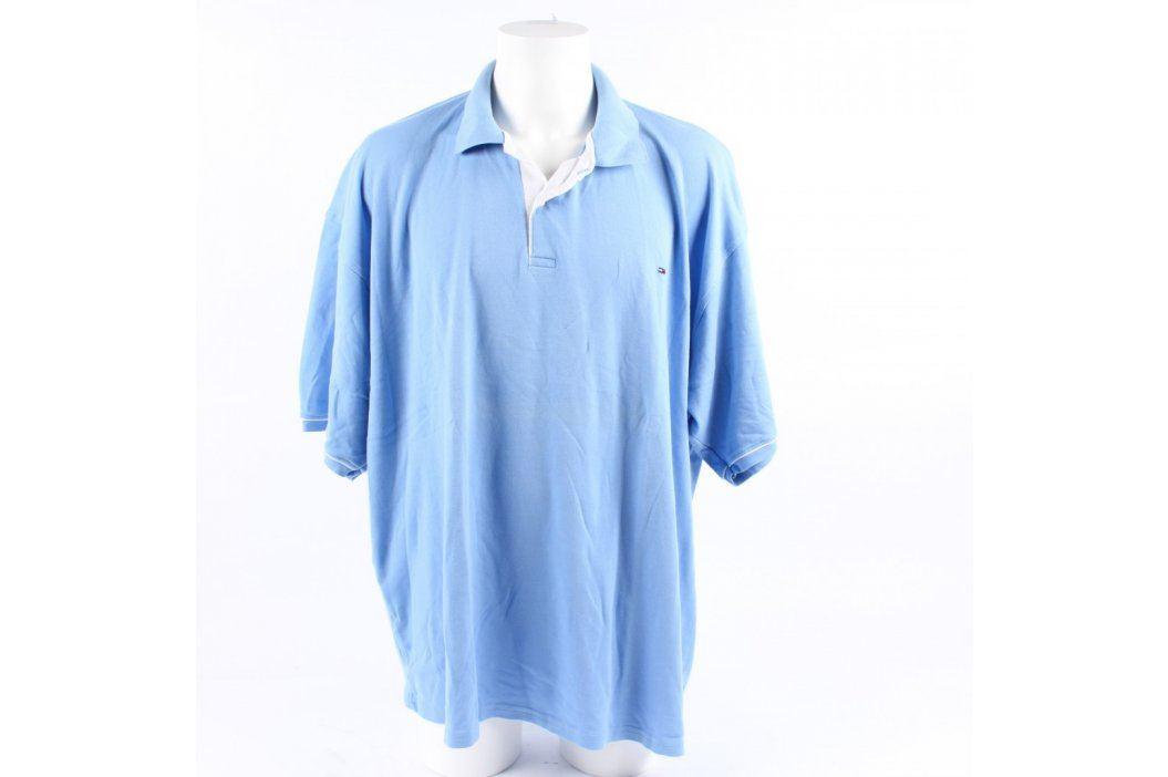 Pánské polo Tommy Hilfiger modré Pánská trička