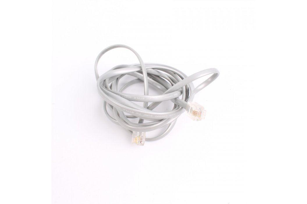 Telefonní dvojlinka RJ12 šedá délka 210 cm Síťové kabely