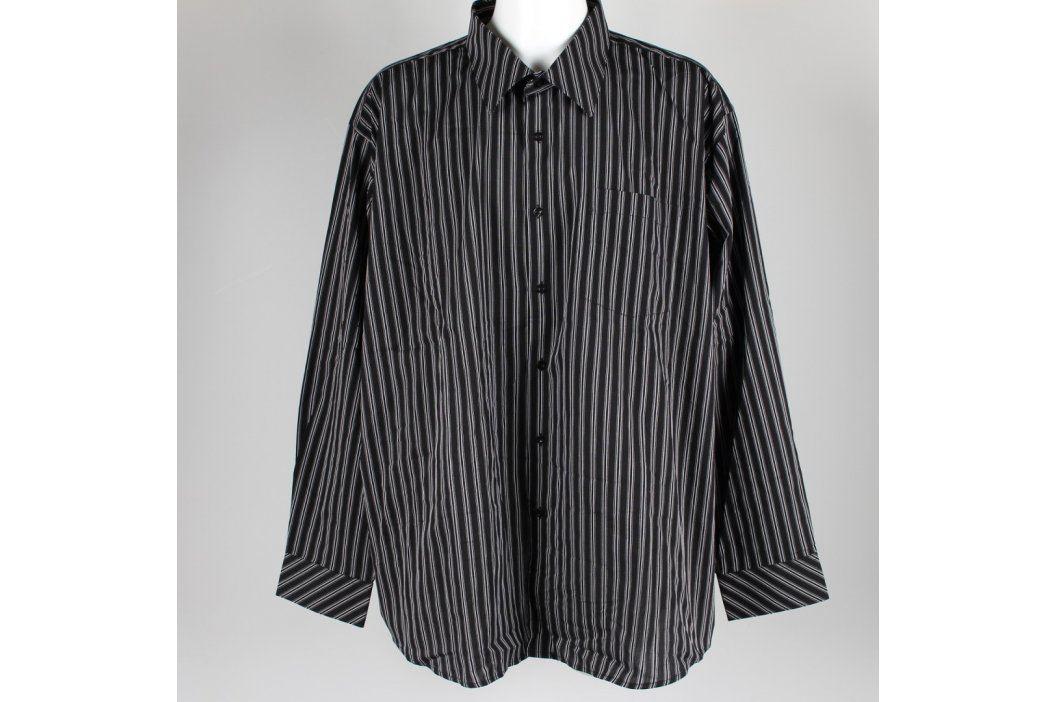 Pánská košile černá s proužkem AMJ style Pánské košile