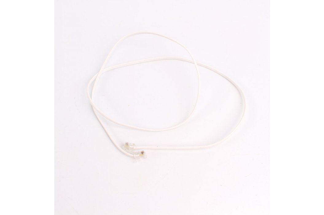 Telefonní dvojlinka RJ12 bílá délka 100 cm Síťové kabely