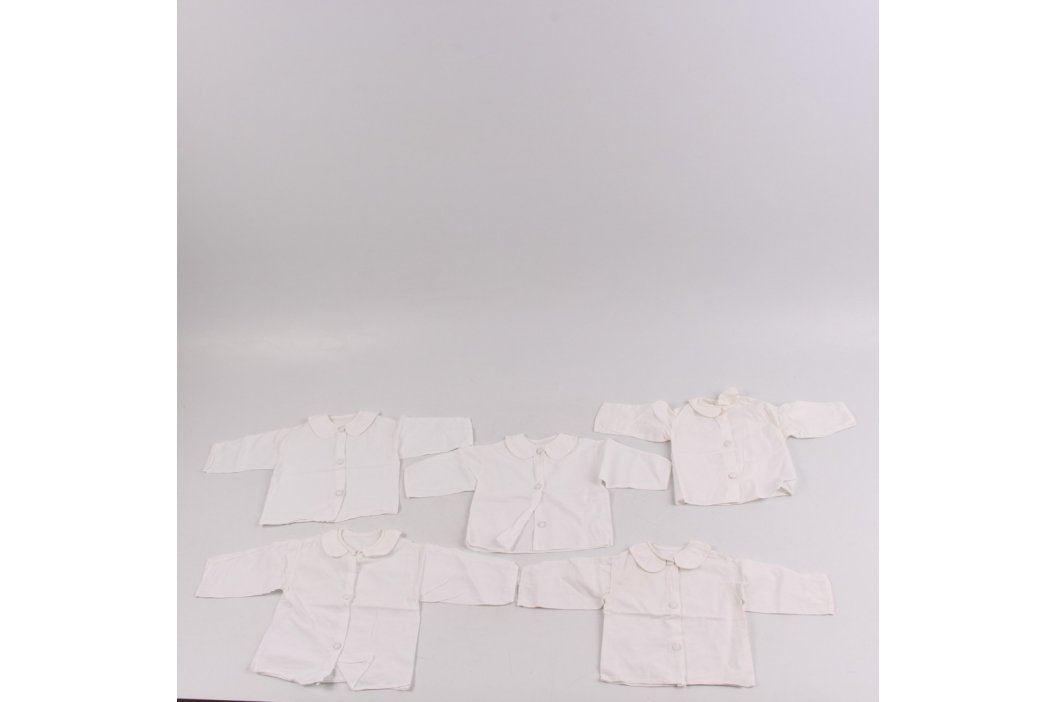 Kojenecké košilky bílé 5 ks Kojenecké oblečení