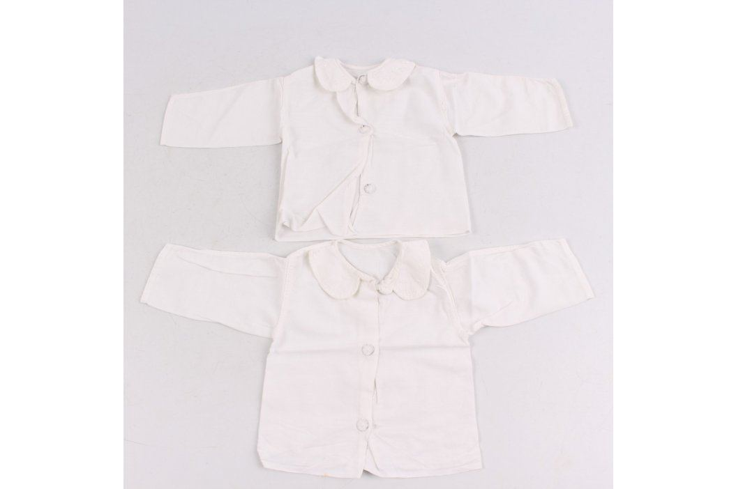 Kojenecké košilky bílé 2 ks Kojenecké oblečení