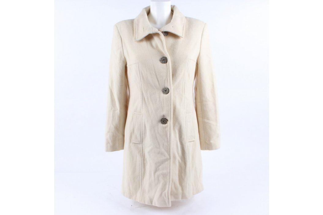 Dámský kabát New Look béžový na knoflíky Dámské bundy a kabáty