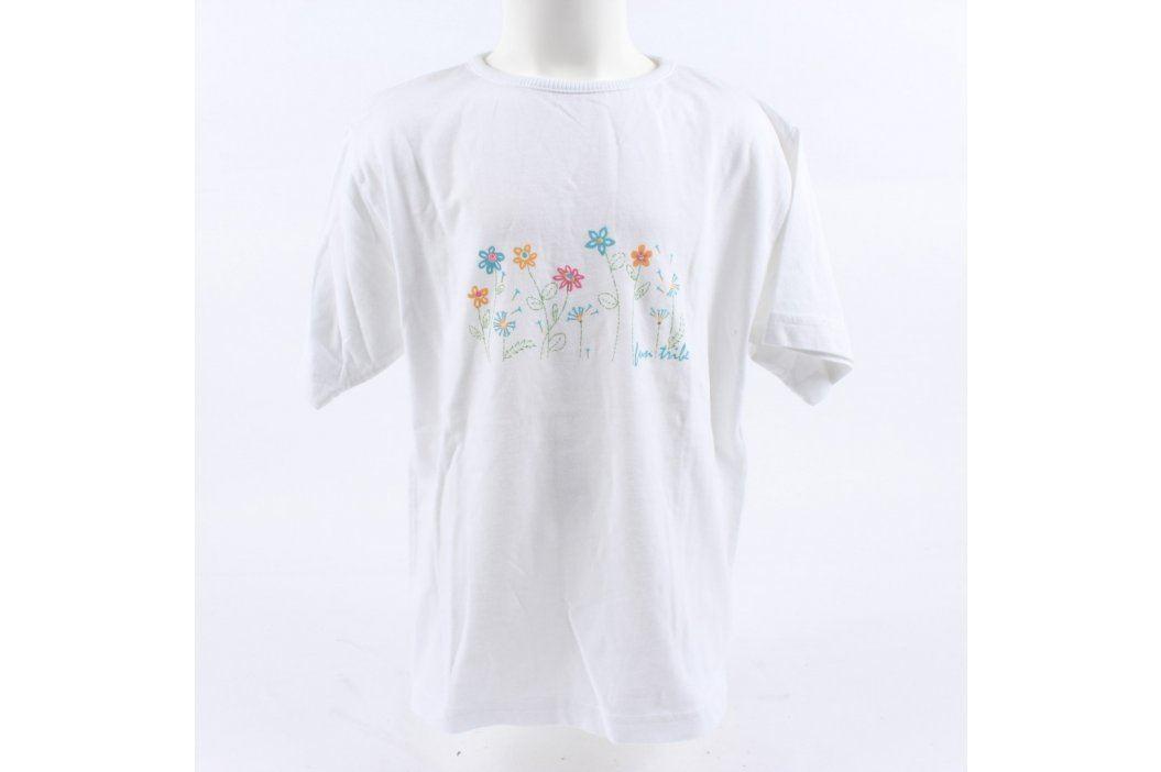 Dívčí tričko TCM bílé s květinovým vzorem Dětská trička a košile