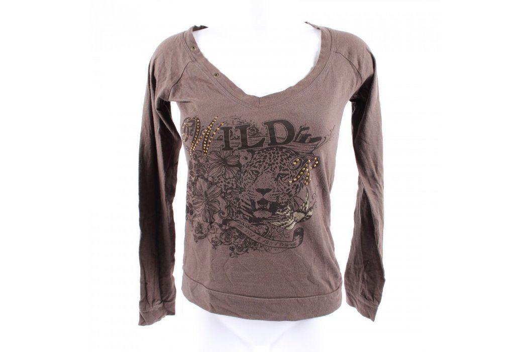 Dámské triko Clockhouse Bio Cotton hnědé Dámská trička a topy
