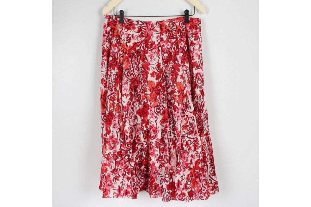 Dámská sukně Soon červená s květinami Dámské sukně