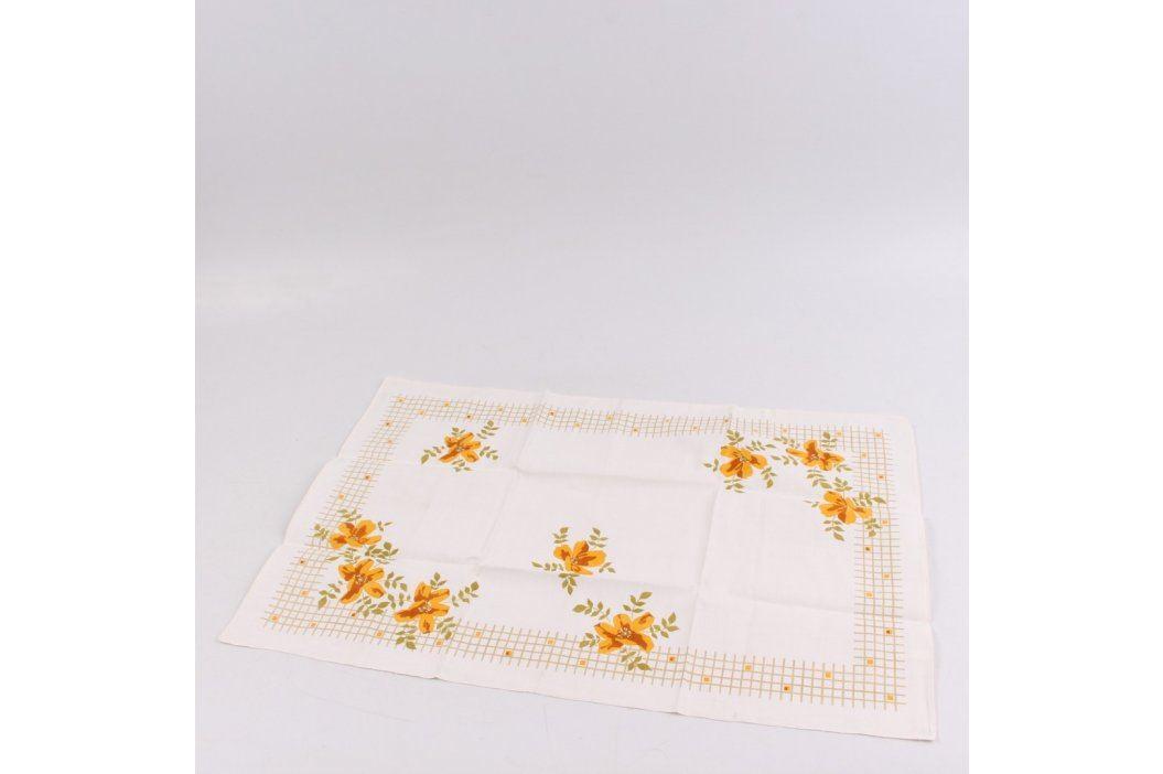 Utěrka bílá s květinovým vzorem Utěrky a chňapky