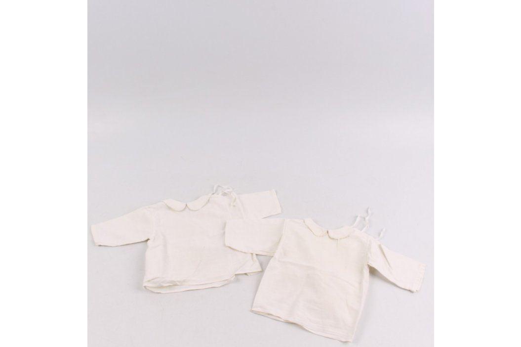 Dětské zavazovací košilky bílé 2 kusy Dětská trička a košile