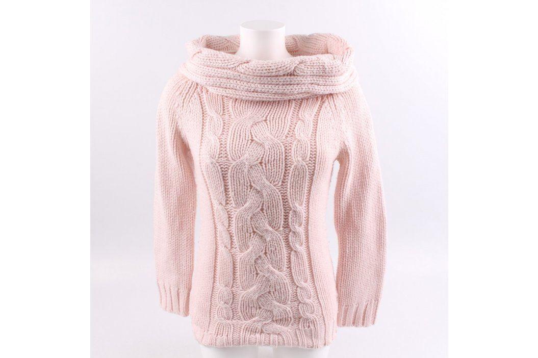 Dámský svetr MK s límcem odstín růžové Dámské svetry a roláky
