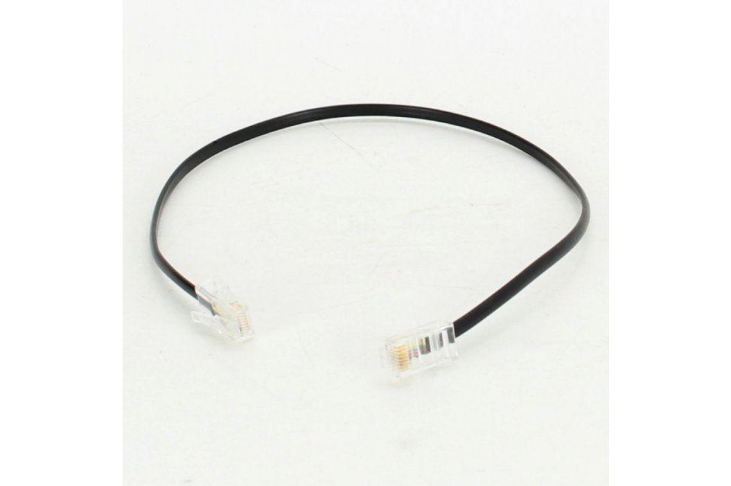 Telefonní kabel RJ45 černý délka 45 cm Síťové kabely