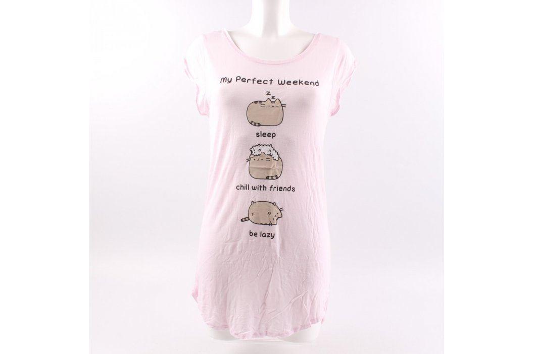 Dámské tričko H&M odstín růžové s potiskem Dámská trička a topy