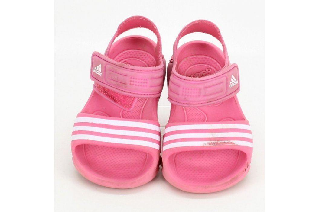 Dětské gumové sandále Adidas růžové Dětská obuv