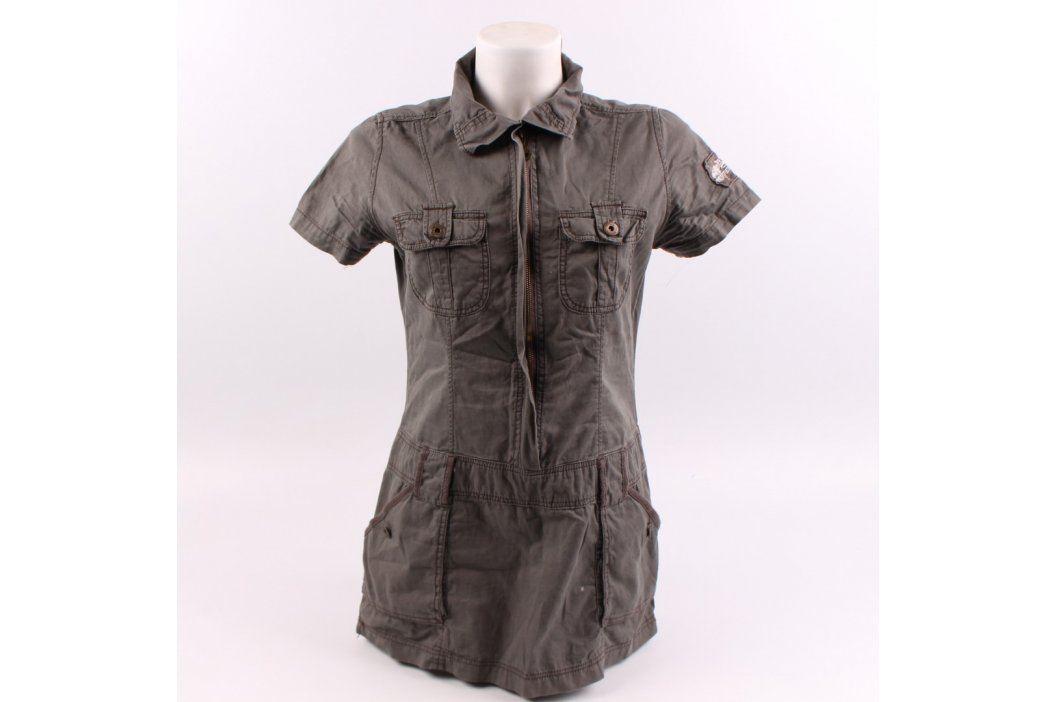 Dámské šaty Sublevel s límečkem khaki Dámské šaty