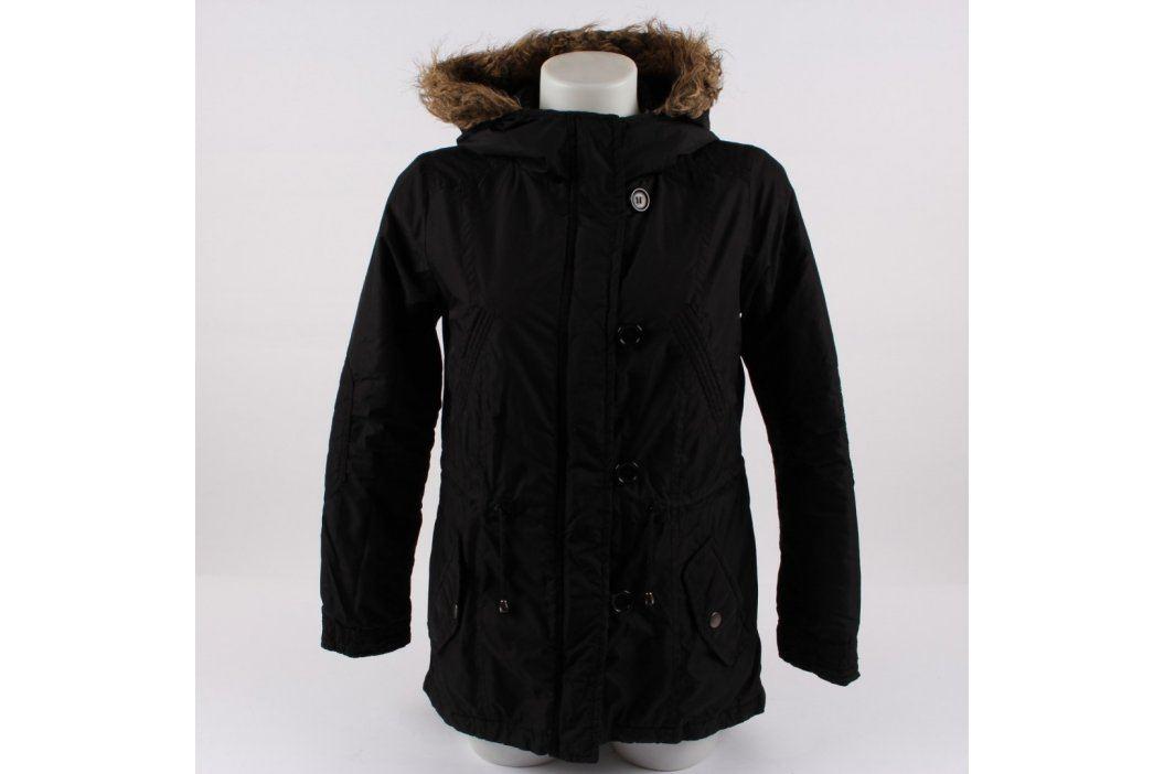 Dámský kabát Atmosphere s kapucí černý Dámské bundy a kabáty