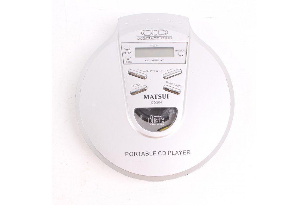 Discman Matsui CD 304 stříbrný Discmany