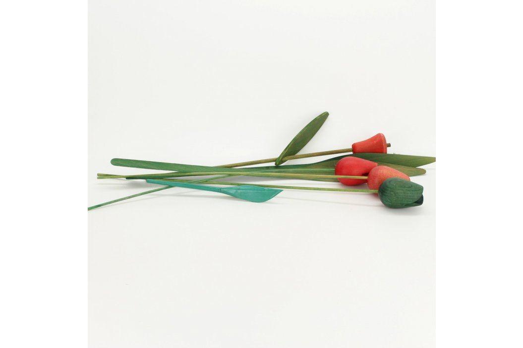Dekorace dřevěné tulipány