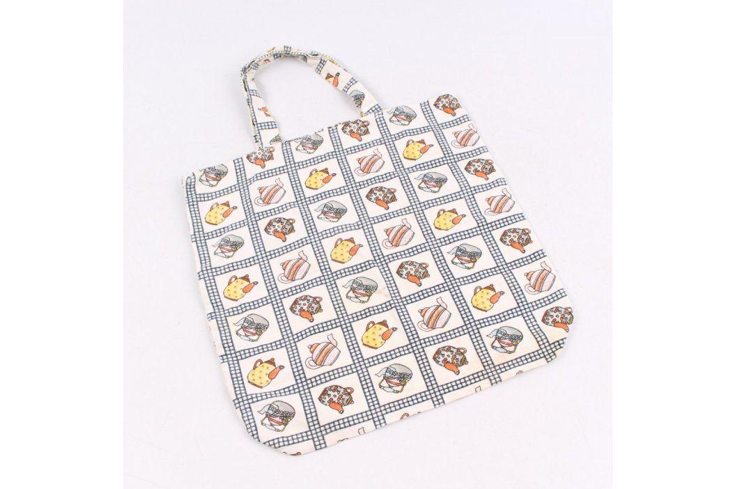Nákupní taška s barevnými konvičkami Tašky a aktovky