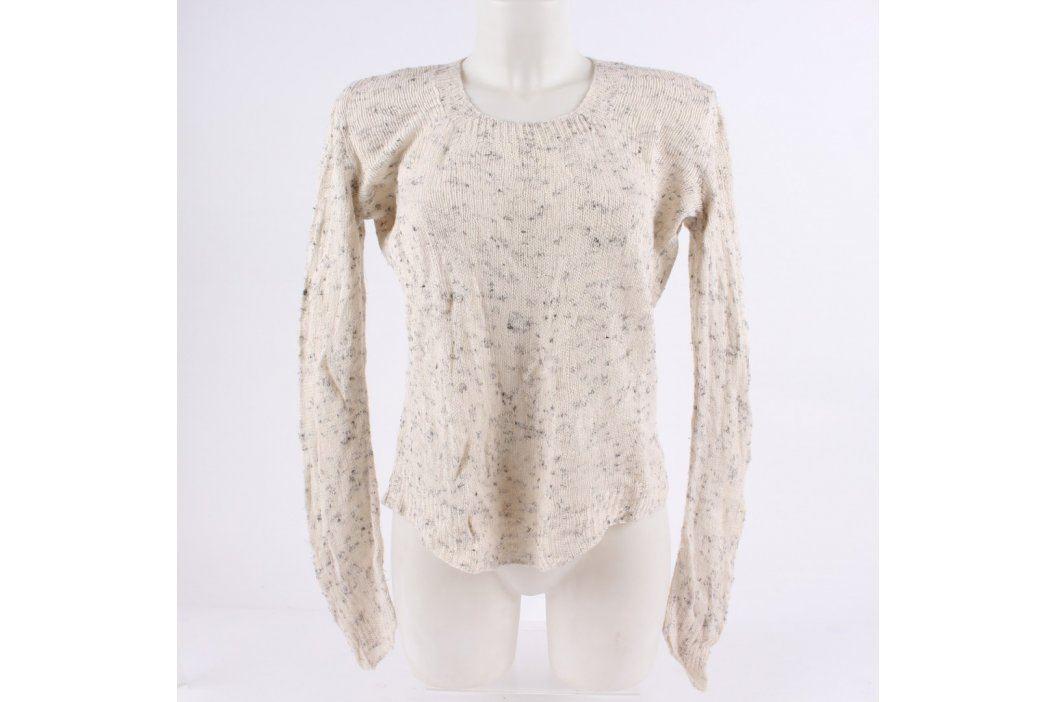 Dámský svetr přes hlavu bílý s puntíky Dámské svetry a roláky