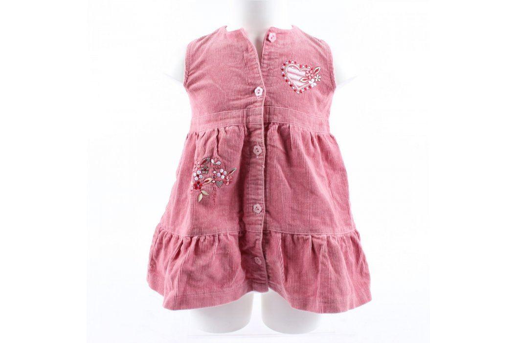 Dětské šaty Aga manžestrové růžové Dětské šaty a sukně